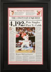 Rose, Pete Framed Auto Cincinnati Enquirer