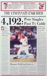 Pete Rose Cincinnati Reds Autographed Cincinnati Enquirer Front Page
