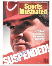 "Pete Rose Cincinnati Reds 1988 Sports Illustrated Cover Autographed 16"" x 20"" Photograph - Mounted Memories"