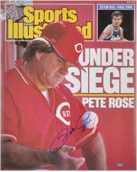 "Pete Rose Cincinnati Reds Sports Illustrated Cover Autographed 16"" x 20"" Photograph - Mounted Memories"
