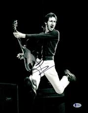 "Pete Townshend Autographed 11"" x 14"" The Who Playing Jumping Photograph 2  - BAS COA"