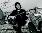 "Pete Townshend Autographed 11"" x 14"" The Who Sitting on Couch Photograph - BAS COA"