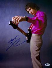"Pete Townshend Autographed 11"" x 14"" Tuning Guitar Photograph - Beckett COA"
