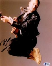 "Pete Townshend Autographed 8"" x 10"" Jumping Air Photograph -BAS COA"