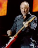 """Pete Townshend Autographed 8"""" x 10"""" The Who Playing Guitar Photograph - Beckett COA"""