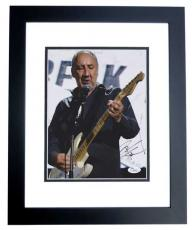 Pete Townshend Signed - Autographed THE WHO 8x10 Photo BLACK CUSTOM FRAME - JSA Authenticity