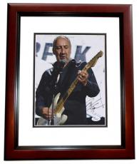 Pete Townshend Signed - Autographed THE WHO 8x10 Photo MAHOGANY CUSTOM FRAME - JSA Authenticity