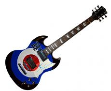 Pete Townshend Autographed The Who Bullseye logo Airbrushed Guitar AFTAL UACC RD