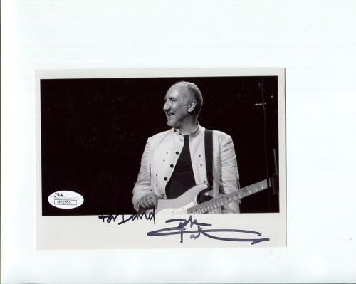 PETE TOWNSHEND HAND SIGNED 5x7 PHOTO       AWESOME+RARE      TO DAVID     JSA