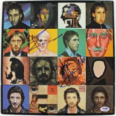 Pete Townshend & John Entwistle The Who Signed Album Cover W/ Vinyl PSA #Q45786