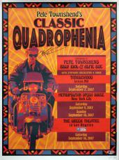 Pete Townshend Signed 18x24 Quadrophenia Tour LE #249/500 Poster BAS #D07123