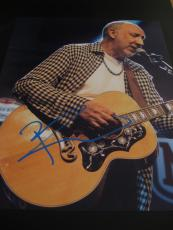PETE TOWNSHEND SIGNED AUTOGRAPH 8x10 PHOTO THE WHO CONCERT GUITAR COA AUTO E