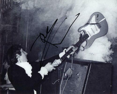 Pete Townshend Signed Autograph 8x10 Photo - The Who Legend Smashing His Guitar