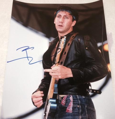 Pete Townshend Signed Autograph Classic Vintage The Who Legend 11x14 Photo Coa A