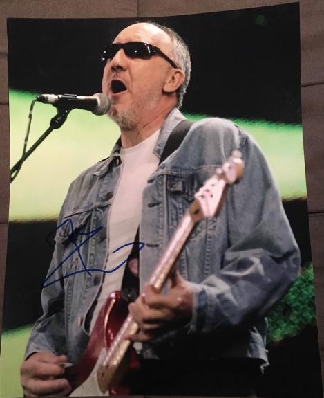Pete Townshend Signed Autograph Classic Vintage The Who Legend 11x14 Photo Coa E