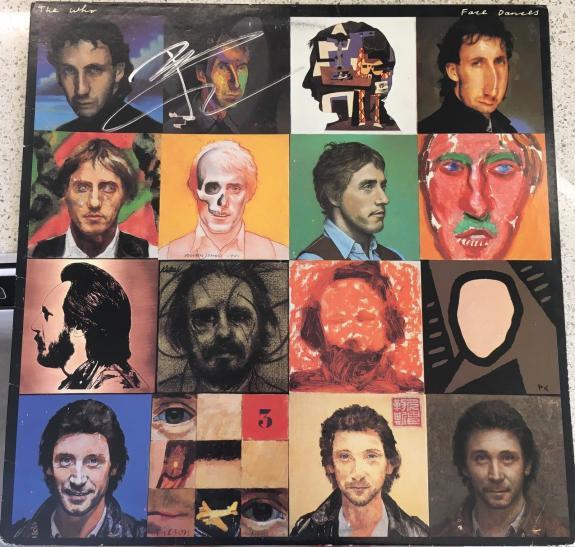 """Pete Townshend Signed Autograph Original The Who """"face Dances"""" Album Vinyl Lp"""