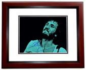 Pete Townshend Signed - Autographed THE WHO Guitarist 11x14 inch Photo MAHOGANY CUSTOM FRAME - Guaranteed to pass PSA or JSA