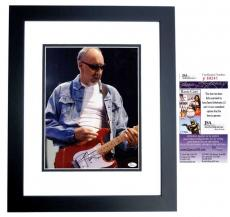 Pete Townshend Signed - Autographed The WHO Guitarist 11x14 Photo BLACK CUSTOM FRAME - JSA Certificate of Authenticity