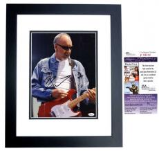 Pete Townshend Signed - Autographed The WHO Guitarist 11x14 Photo BLACK CUSTOM FRAME - JSA Certificate of Authenticity - Minor Smudge