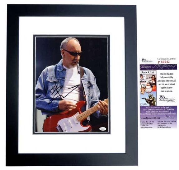 Pete Townshend Signed - Autographed The WHO Guitarist 11x14 inch Photo + JSA Certificate of Authenticity - Minor Smudge