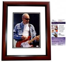 Pete Townshend Signed - Autographed The WHO Guitarist 11x14 Photo MAHOGANY CUSTOM FRAME - JSA Certificate of Authenticity