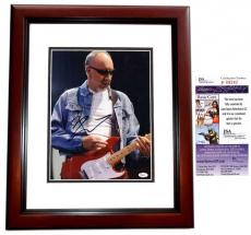Pete Townshend Signed - Autographed The WHO Guitarist 11x14 Photo MAHOGANY CUSTOM FRAME - JSA Certificate of Authenticity - Minor Smudge