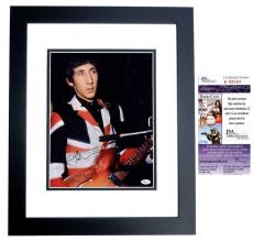Pete Townshend Signed - Autographed The WHO Guitarist Vintage 11x14 inch Photo BLACK CUSTOM FRAME - JSA Certificate of Authenticity