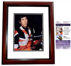 Pete Townshend Signed - Autographed The WHO Guitarist Vintage 11x14 Photo MAHOGANY CUSTOM FRAME - JSA Certificate of Authenticity