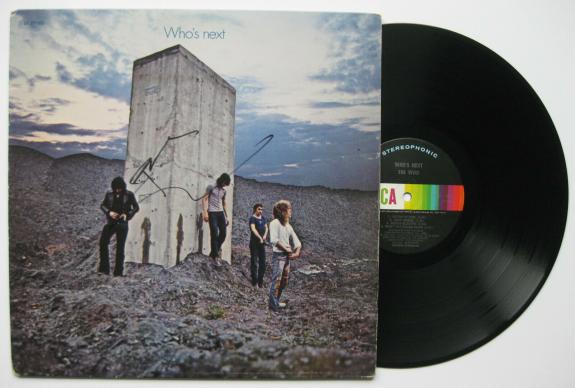 Pete Townshend signed autographed The Who Who's Next album, Vinyl Record, Proof