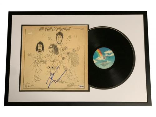 Pete Townshend Signed Framed The Who By Numbers Album Vinyl Lp Beckett Bas Coa