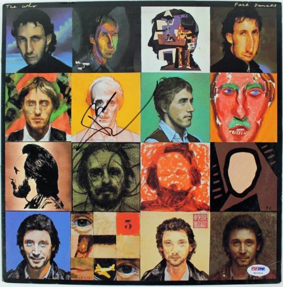 Pete Townshend The Who Face Dances Signed Album Cover PSA/DNA #H02414