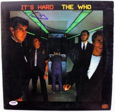 Pete Townshend The Who It'S Hard Signed Album Cover W/ Vinyl PSA/DNA #S80818