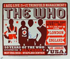 Pete Townshend The Who Signed 19.5x23.25 May 2016 Concert Poster PSA #AB81049