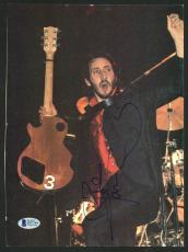 Pete Townshend The Who Signed 8x11 Magazine Page BAS #D07744