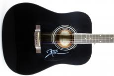 Pete Townshend The Who Signed Black Epiphone Acoustic Guitar BAS #B38578