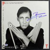 Pete Townshend The Who Signed 'Chinese Eyes' Album Cover PSA #AB81125