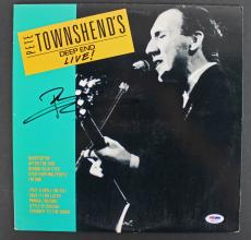 Pete Townshend The Who Signed 'Deep End Live' Album Cover W/ Vinyl PSA #AB81121