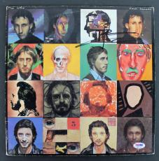 Pete Townshend The Who Signed 'Face Dances' Album Cover W/ Vinyl PSA #AB81118