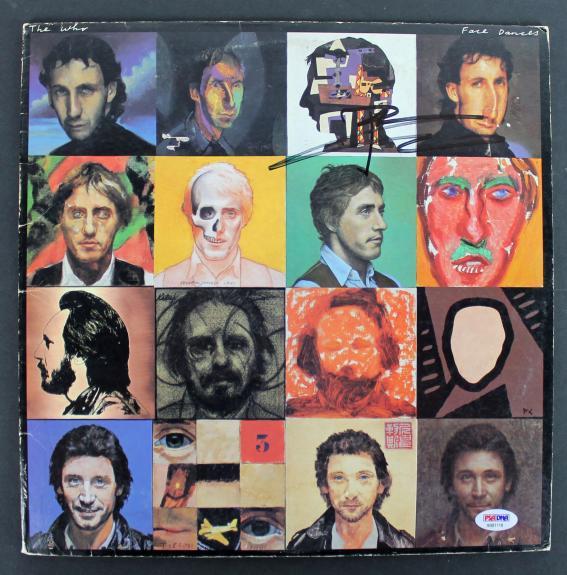 Pete Townshend The Who Signed 'Face Dances' Album Cover W/ Vinyl PSA #AB81118