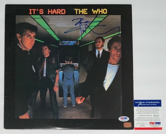 Pete Townshend The Who Signed It's Hard Record Album Psa Coa H84301