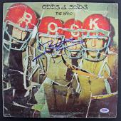Pete Townshend The Who Signed 'Odds & Sods' Album Cover W/ Vinyl PSA #AB81124