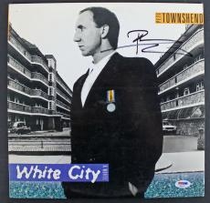 Pete Townshend The Who Signed 'White City' Album Cover W/ Vinyl PSA/DNA #AB81117
