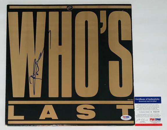 Pete Townshend The Who Signed Who's Last Record Album Psa Coa H84300