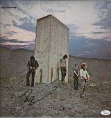 Pete Townshend The Who Signed Who's Next Record Album Jsa Coa K42161