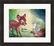 Peter Behn autographed 8x10 Photo (The voice of Thumper Bambi) #SC1 Matted & Framed