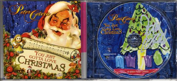 Peter Cetera Autographed Chicago Just Love Christmas CD UACC RD COA AFTAL