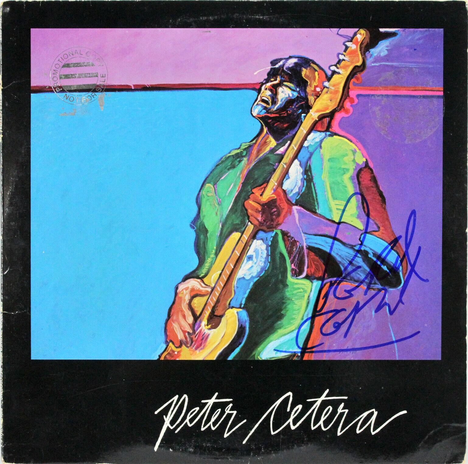 Peter Cetera Signed Self Titled Album Cover W Vinyl Bas