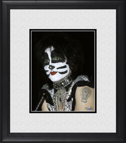 "Peter Criss Kiss Framed 8"" x 10"" at Press Conference Photograph"