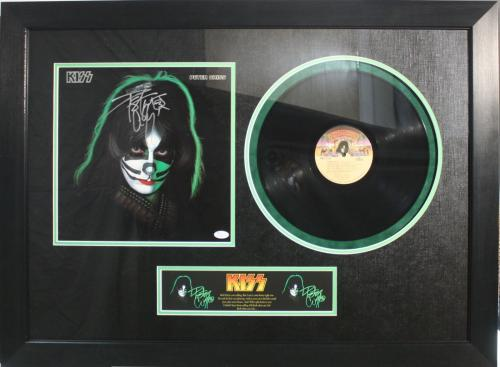 PETER CRISS (KISS) signed/framed 1978 Solo album-JSA Authenticated