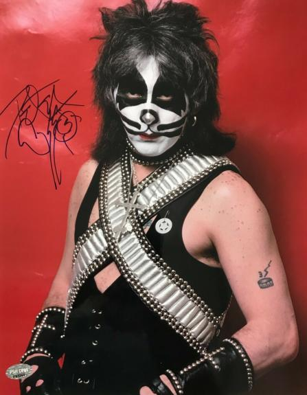 PETER CRISS (Original KISS drummer) signed authentic 11x14 photo- PSA J51244